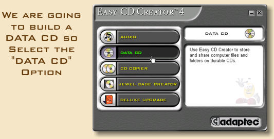 a introduction of adaptec easy cd creator Adaptec easy cd creator by twisted_phuk69 16 years ago create a new discussion if you're asking for technical help, please be sure to include all your system info, including operating system, model number, and any other specifics related to the problem.