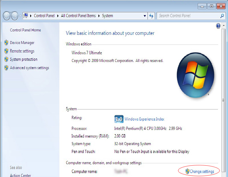 Adding Windows 7 computer to existing network